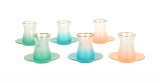 Tusca 6pcs Assorted-Colour Glass Istikana