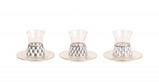 Loma 6pcs Assorted-Design Glass Istikana