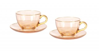 Menon Glass Tea Cup and Saucer