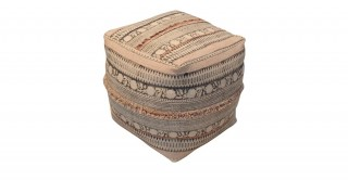 Welsh 40X40 Cotton Pouf