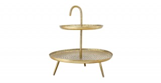 Eva Nola Brass Side Table