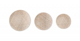 Amira Set Of 3 Natural Wall Decor