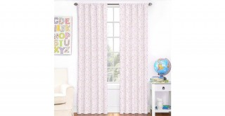 Floral 2Pc Curtain 140X240 Pink