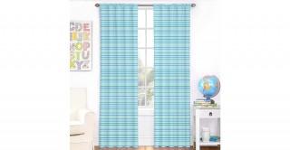 Geometric 2Pc Curtain 140X240 Blue