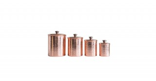 Aster Stainless Steel Canister, Set Of 4