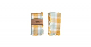 Felicity Square Cotton Plaid Napkins, Set of 4