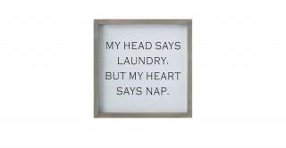 Evon My Head Says Laundry Wall Decoration