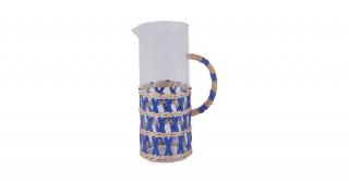 Rattan Pitcher Blue 1.5 Liter
