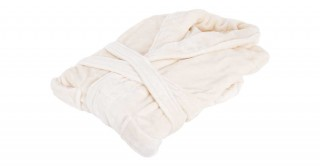 Soft Fleece Bed Robe Ivory Small