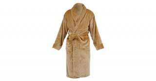 Soft Fleece Bed Robe Beige Double Xl