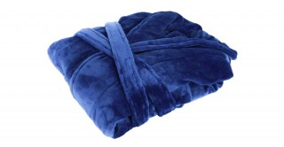 Soft Fleece Bed Robe Blue Small