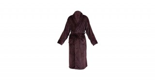 Soft Fleece Bed Robe Brown Medium