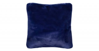 Solid Lux Faux Fur Cushions Blue 50X50Cm
