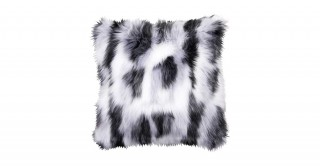 Shaggy Faux Fur Cushions Black 50X50Cm