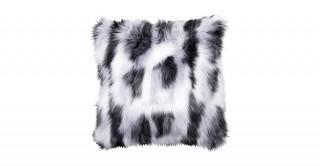 Shaggy Faux Fur Cushions Black 50X50Cm