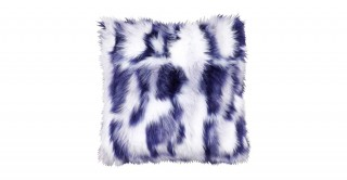 Shaggy Faux Fur Cushions Blue 50X50Cm