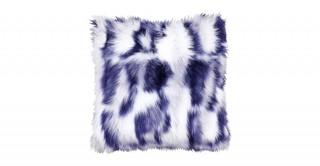 Shaggy Faux Fur Cushions Blue 50X50Cm