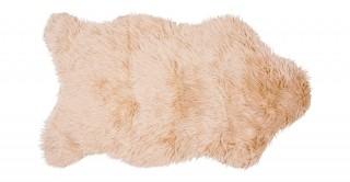 Mongolian Faux Fur Shape Rug Bge 90X150