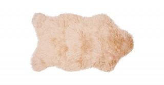 Mongolian Faux Fur Shape Mat Beige 60X90