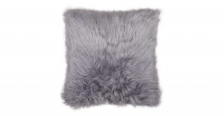 Mongolian Faux Fur Cushion Grey 50X50Cm