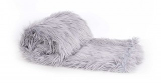 Mongolian Faux Fur Throw Grey 150X170Cm