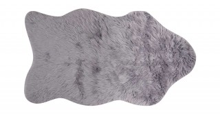 Mongolian Faux Fur Shape Rug Grey 90X150