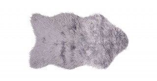 Mongolian Faux Fur Shape Mat Grey 60X90C