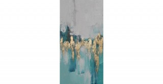 Ocean Handmade Oil Painting 100X50Cm