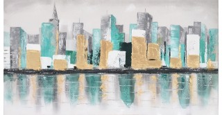 Skyline Handmade Oil Painting 80X150Cm