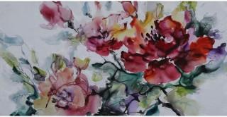 Dahlia Handmade Oil Painting 50X100Cm