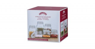 Kilner Push Top Square 6 Piece Jar Set