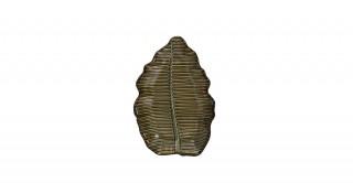 Leaf Centerpiece Plate Green 19 x 13 x 2.5 cm