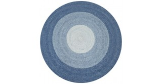 Marvel Round Outdoor Rug Blue 160Cm