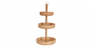 Rattan 3 Tier Fruit Basket