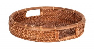 Rattan Tray Antique Brown