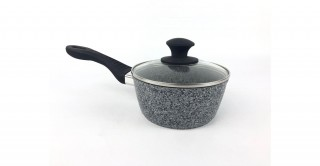 Granito Lidded Sauce Pan 20cm Grey