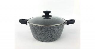 Granito Lidded Casserole 24cm Grey