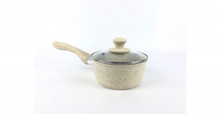 Granito Lidded Sauce Pan 16cm Beige