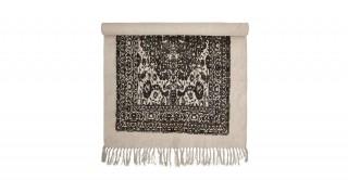 Cotton Rug Black 150 x 90 cm