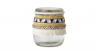 Glass  Yellow Vase