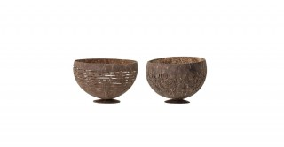 Coconut Bowl Brown Set of 2