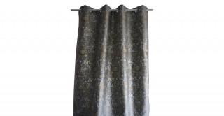 Metallic Jacquard Curtain Silver 135 x 300