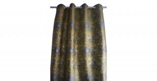 Metallic Jacquard Curtain Yellow 135 x 300