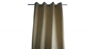 Metallic Jacquard Curtain Ochre 135 x 300