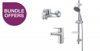 Promo Polaris Basin + Bath Mixer + Shower Set