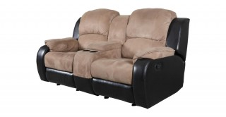 Perth 2 Seater Rocking Recliner, Brown