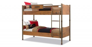 Black Pirate Brown Kids Bunk Bed