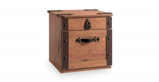 Cilek Black Pirate Kids Bedside Cabinet