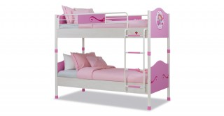 Sl Princess Pink Kids Bunk Bed