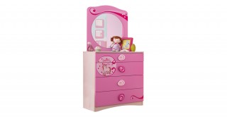 Cilek Sl Princess Kids Dresser With Mirror